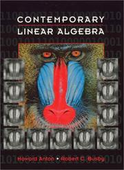 Cover of: Contemporary Linear Algebra
