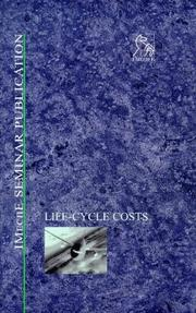 Cover of: Life-Cycle Costs (IMechE Conference Transactions)