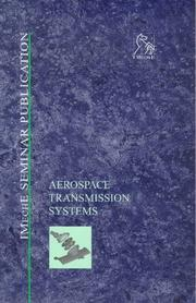 Cover of: Aerospace Transmission Systems (IMechE Seminar Publication)