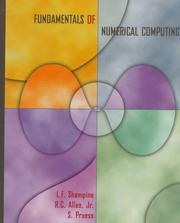 Cover of: Fundamentals of numerical computing