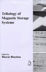 Cover of: Tribology of Magnetic Storage Systems