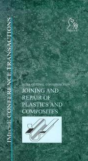 Cover of: Joining and Repair of Plastics and Composites (Imeche Event Publications) | PEP  (Professional Engineering Publishers)