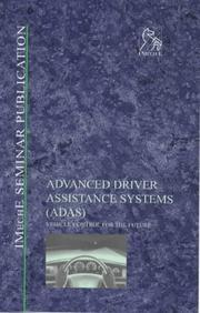 Cover of: Advanced Driver Assistance Systems (ADAS): Vehicle Control for the Future (IMechE Seminar Publications)