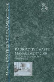 Cover of: Radioactive Waste Management 2000