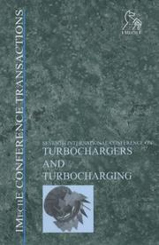 Cover of: Turbochargers and Turbocharging (Imeche Event Publications)