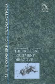 Cover of: The Pressure Equipment Directive (Imeche Event Publications) | PEP (Professional Engineering Publishers)