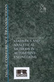 Cover of: International Conference on Statistics and Analytical Methods in Automotive Engineering (Imeche Event Publications)