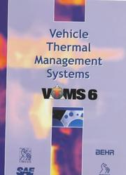 Cover of: Vehicle Thermal Management Systems (VTMS 6) (Imeche Event Publications)