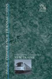 Cover of: New Trains (Imeche Event Publications) | PEP (Professional Engineering Publishers)