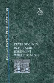 Cover of: Developments in Pressure Equipment