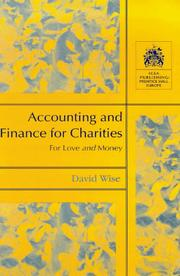 Cover of: Accounting and Finance for Charities