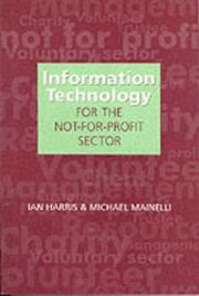Cover of: Information Technology for the Not-For-Profit Sector