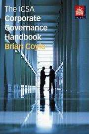 Cover of: The Icsa Corporate Governance Handbook
