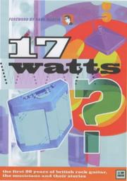 Cover of: 17 watts?
