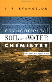 Cover of: Environmental soil and water chemistry