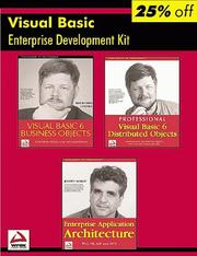 Cover of: Wrox Visual Basic Enterprise Developer's Resource Kit (Programmer to Programmer)