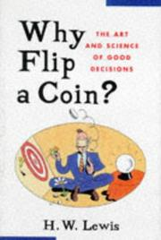 Cover of: Why flip a coin?