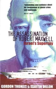 Cover of: The Assassination of Robert Maxwell: Israel's superspy