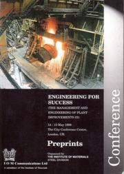Engineering For Success (The Management and Engineering of Plant Improvements) by