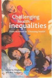 Cover of: Challenging Health Inequalities |