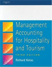 Cover of: Management Accounting for Hospitality and Tourism