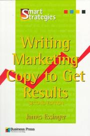 Cover of: Writing Marketing Copy to Get Results