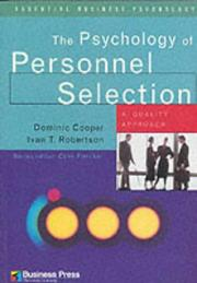 Cover of: The Psychology of Personnel Selection | Dominic Cooper
