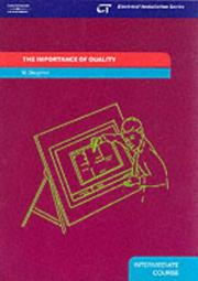 Cover of: The Importance of Quality: Electrical Installation Series