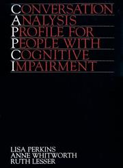 Cover of: Conversation Analysis Profile For People With Cognitive Impairment ( Cappci )