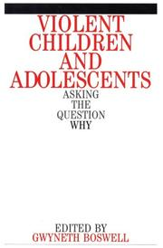 Cover of: Violent Children and Adolescents