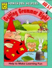 Cover of: Getting Grammar Right