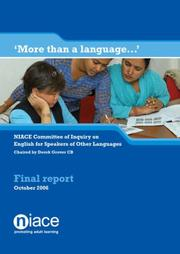 Cover of: More Than a Language