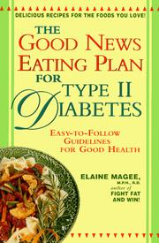 Cover of: The good news eating plan for type II diabetes