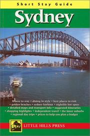 Cover of: Short Stay Guide Sidney (Short Stay Guides)
