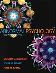 Cover of: Abnormal psychology | Gerald C. Davison