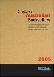 Cover of: Directory of Australian Booksellers 2005 | Thorpe-Bowker