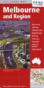 Cover of: Melbourne City and Region Handy Map by Hema | HEMA Maps