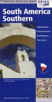 Cover of: South America Southern Regional Map by Hema