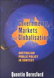 Cover of: Governments, Markets and Globalisation