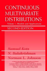 Cover of: Continuous multivariate distributions