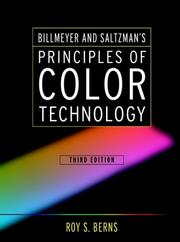Cover of: Billmeyer and Saltzman's principles of color technology