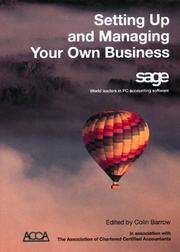 Cover of: Setting Up and Managing Your Own Business