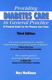 Providing Diabetes Care in General Practice by Mary MacKinnon