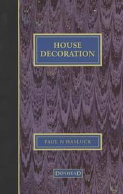 Cover of: House Decoration