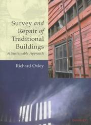 Cover of: Survey and Repair of Traditional Buildings