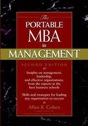 The portable MBA in management by Allan R. Cohen