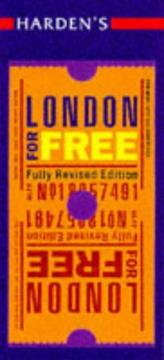 Cover of: Harden's London for Free (Hardens Guide)