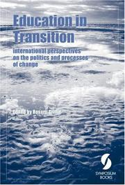 Cover of: Education in Transition | Rosarii Griffin