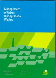 Cover of: Management of Urban Biodegradable Waste