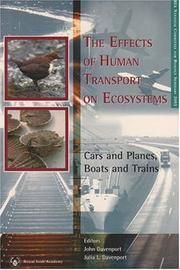 Cover of: The Effects of Human Transport on Ecosystems